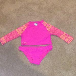 Pink bikini with sleeves